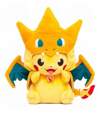 2 styles Pokemon Pikachu Cosplay Charmander Plush Toys Cute Pokemon Plush Stuffed Animals Soft Toys Fashion Pokemon Plush Doll(China (Mainland))