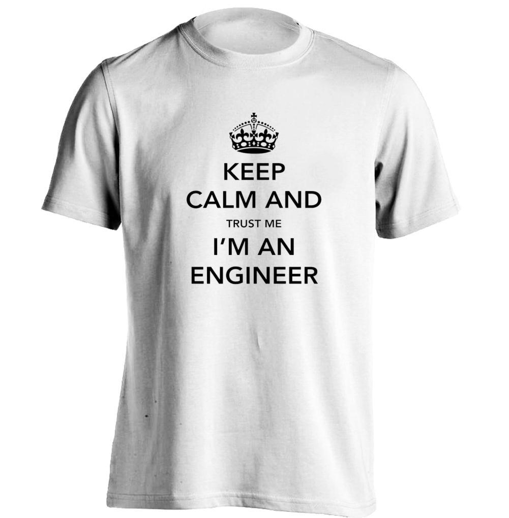 Design t shirt keep calm - Keep Calm And Trust Me I Am An Humor Engineer Mens Womens Cool T Shirt Design T Shirt
