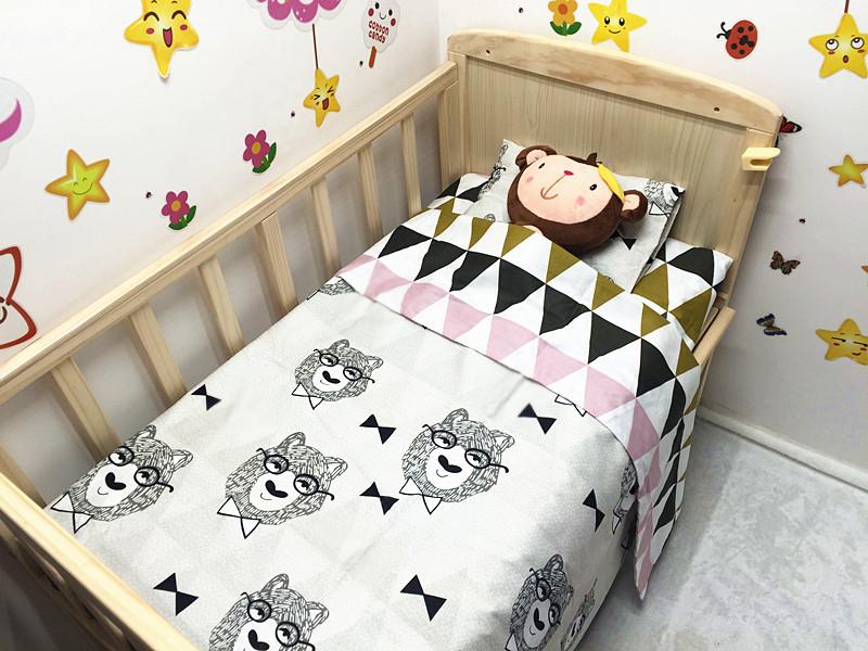 Здесь можно купить  Promotion! 3PCS baby crib bedding sets Cot Set baby bed linen,include(Duvet Cover/Sheet/Pillow Cover)  Детские товары