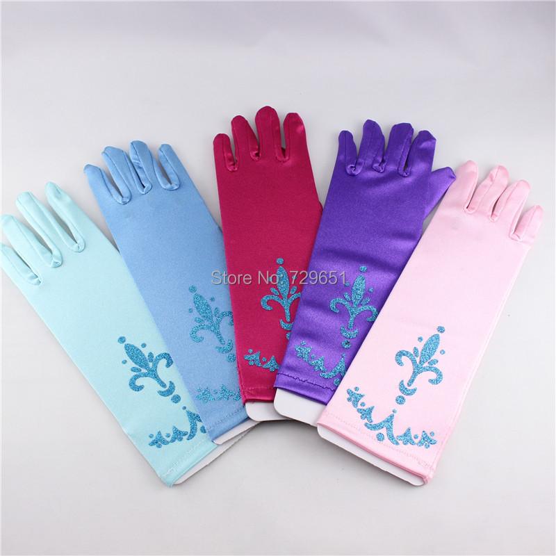 Retail Gloves Anna Elsa Girl's printing Gloves for Evening Dress Children Girls Cosplay Gloves Kids Accessories(China (Mainland))