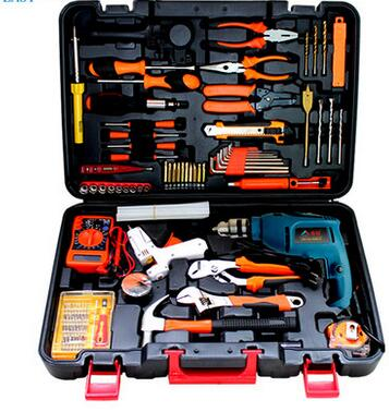 Easy sharp impact drill tool set the Dragon Statue glue gun hydraulic pliers screwdriver screwdriver with claw hammer JH(China (Mainland))