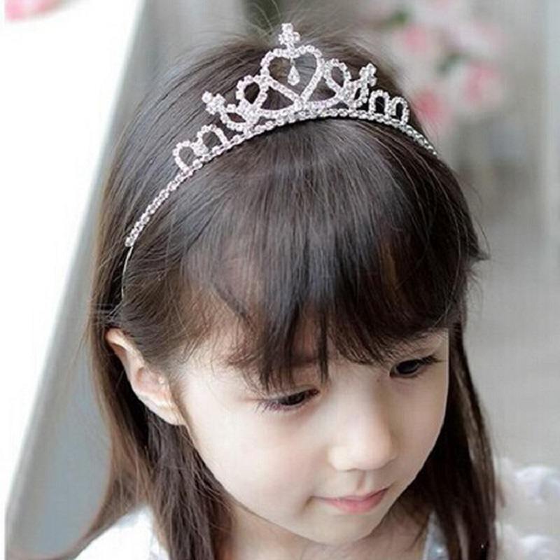 1pcs Baby Girls Princess Hairband Child Party Bridal Crown Headband Crystal Diamond Tiara Hair Hoop Hair bands Accessories(China (Mainland))
