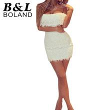 Vestido branco sexy em renda
