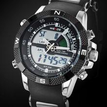 Marque de luxe WEIDE hommes mode sport montres hommes Quartz analogique horloge LED mâle militaire montre-bracelet Relogio Masculino(China)