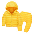 Brand Children Clothing Set Boy Girl Clothing Sets Girls Suit Jacket Winter Hooded Down Jacket Trousers