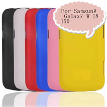 Free shipping High Quality Colorful Rubber Coated Matte Hard Case Skin Back Cover For Samsung Galaxy W I8150(China (Mainland))