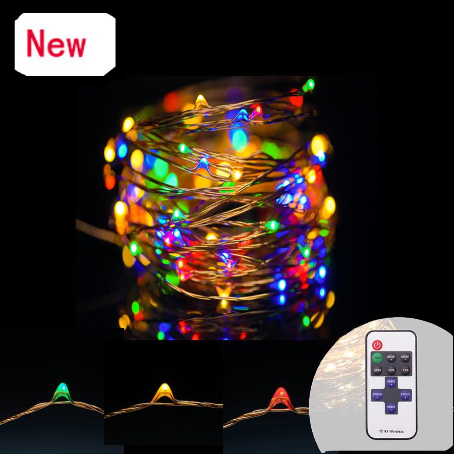 5V USB 10m 33FT 100 led Copper String Light Warm White/RGB Waterproof lamps Decorative Rope Patio Wedding garland Lighting(China (Mainland))