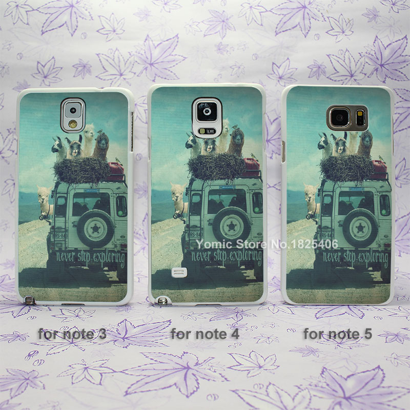 never stop exploring Design hard White Skin Case Cover for Samsung Galaxy note 2 3 4 5 s4mini s6edge plus(China (Mainland))