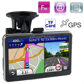 L2800 5.0 inch 480*272 Pixels TFT Touch Screen Car GPS Navigator, 4GB Memory and Map, Voice Broadcast, FM Transmitter