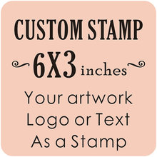 Buy Custom Logo Stamp Stationery Stamp Wedding Stamp 6x3 inches for $69.37 in AliExpress store