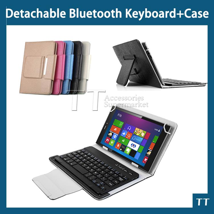 New Leather Universal 7~8 inch 3.0 bluetooth keyboard case,bluetooth keyboard case for 7~8 inch tablet pc + touch pen(China (Mainland))