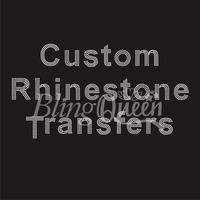 50CS/LOT Custom Rhinestone Transfers Hot Fix Iron On Appliques