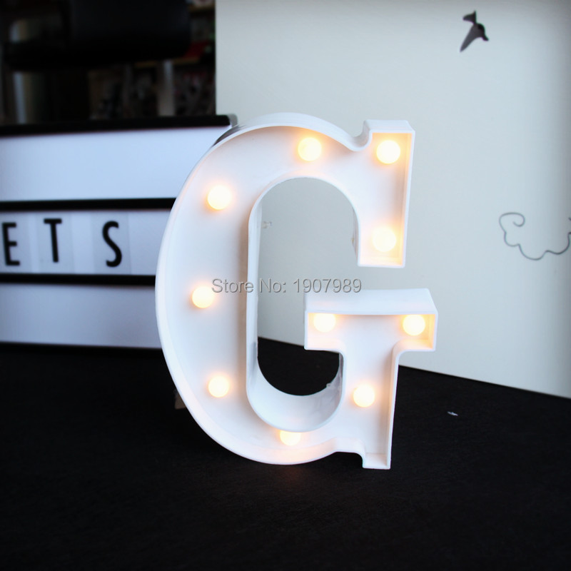 9inch  LED Marquee Sign Plastic White letter light LIGHT UP night light