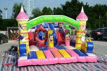 Giant commercial Inflatable Double Slip Slide Inflatable bouncy castle for kids(China (Mainland))