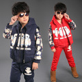 2016 winter children s clothes boys girls sets thicken fleece warm baby casual suits for boys