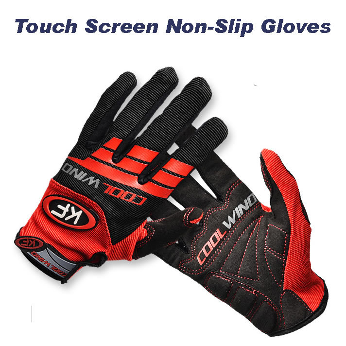 Touch Screen Non-Slip Breathable Bike Bicycle Bicicleta Cycling Cycle Full Finger Ciclismo Luvas Gloves For Smartphone(China (Mainland))
