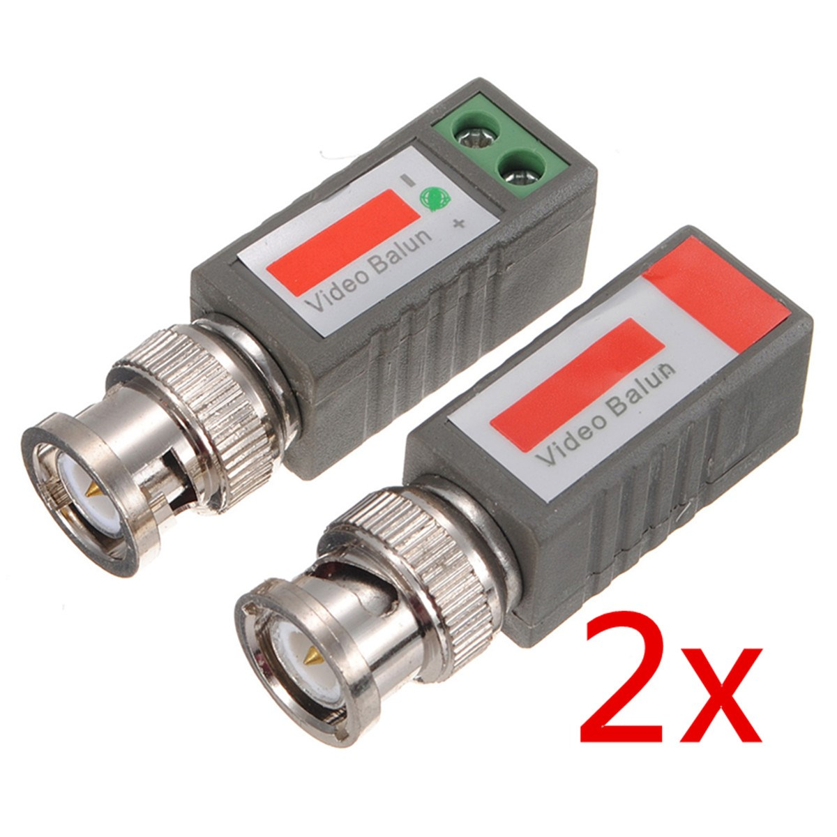 2pcs Camera CCTV Coax CAT5 To BNC Male Video Passive Balun UTP Transceiver Connector Passive Transceivers 2000ft Distance(China (Mainland))