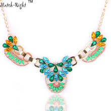 Buy Match-Right Women Necklace Rhinestone Statement Necklaces Pendants Trendy Jewelry Multicolor Necklace Women Accessories NL514 for $2.59 in AliExpress store