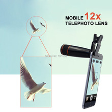 Buy 20pcs/lot Universal Clip 12X Telephoto Telescope Lens Optical Zoom Camera Lens iPhone 6 6+ 5S/Samsung SmartphoneAPL-12XSJ for $199.99 in AliExpress store