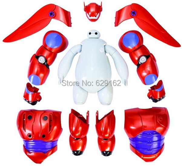 Hot Sale Removable Armor Deformable Big Hero 6. 2015 New Deformable Robot Baymax Children's Action Toy Figures Holiday Gift(China (Mainland))