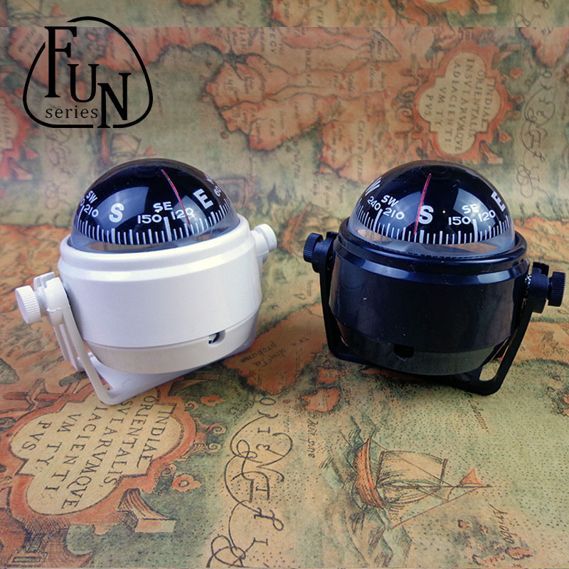 FunSeries Led Lighted Ball Compass Truck Dashboard for Car Sea marine boat Camping Travel Navigation 151027-24(China (Mainland))