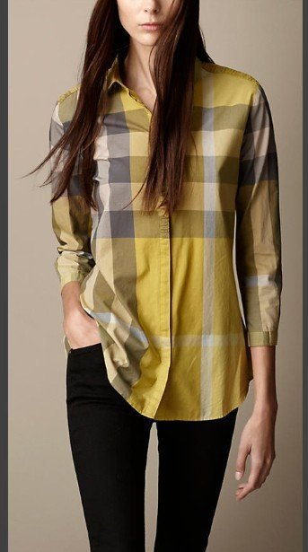 New Classical 2015 Women Designer British Long Sleeve Plaid Casual shirts/High Quality Big Check Tops/Blouse #8017 M-XXL(China (Mainland))