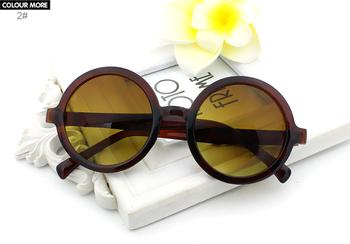 Okulary przeciwsłoneczne okrągłe w stylu retro różne kolory