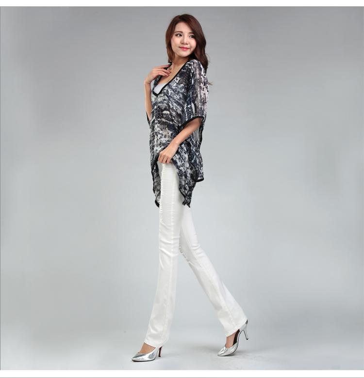 Скидки на 2016 корейский новая мода лето все матч женщина джинсы тонкий тонкий отверстие белый flare брюки упругие случайные джинсы женщин 'ы