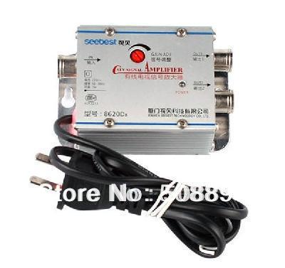 New Broadband Signal Amplifier AMP Booster for TV CATV Antenna broadcast Freeshipping&Dropshipping(China (Mainland))