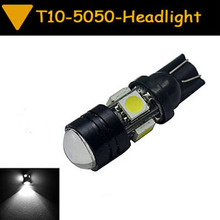 1pcs T10 5050 SMD 4 LED 3 W Car Vehicle Head Side Light Lamp  White warm white blue red yellow  CD00024(China (Mainland))