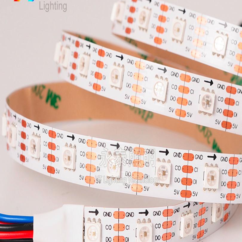 APA 102 SK9822 individually addressable led strip use new sk9822 chip non waterproof 5050 rgb full color free ship(China (Mainland))