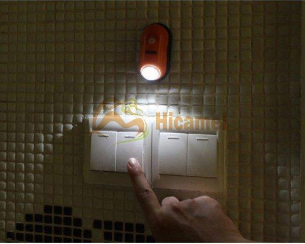 G201 Wholesale Infrared Humen Body Sensor Led Light Silver Motion Sensor Emergency Mini Night Light Free Shipping Induction Lamp