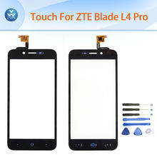 Buy Original touch screen ZTE Blade L4 Pro A460 touch digitizer panel sensor glass lens repair mobile phone parts black white for $7.49 in AliExpress store