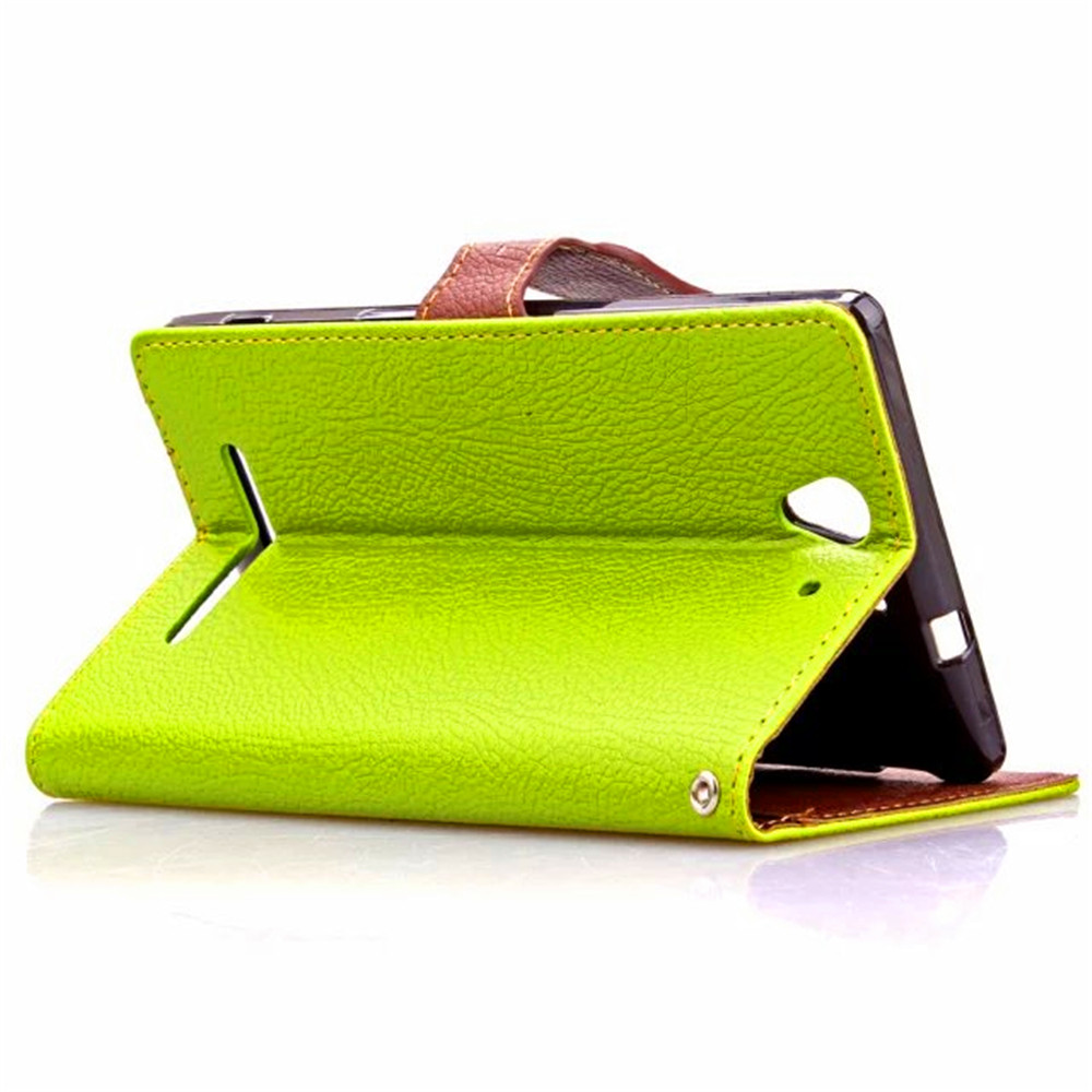 Newest Arrival For Sony Xperia C3 Case Luxury Fashion Litchi Texture Leather Phone Case Lanyard Stand Flip Cover Bag Accessories