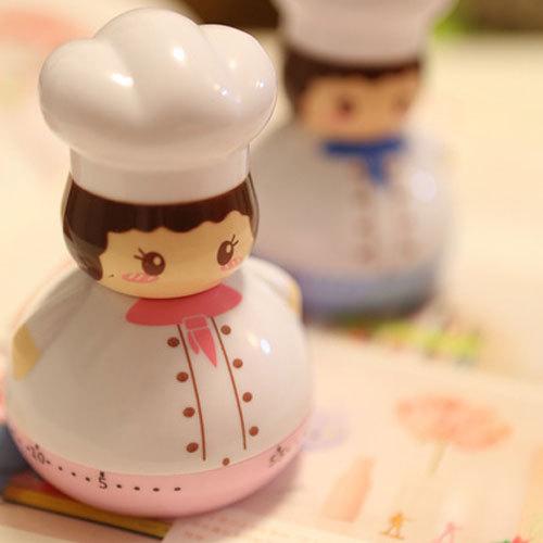 Kitchen timer reminder mechanical timer mini cute cartoon alarm clock(China (Mainland))