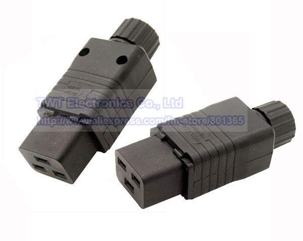 IEC 320 C19 Socket AC Power Cord/Cable Connector,16A/20A, Rewirable,8pcs ,Free shipping(China (Mainland))