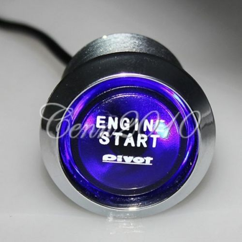 12V Car Engine Start Push Button Switch Ignition Starter Kit Blue LED Universal<br><br>Aliexpress
