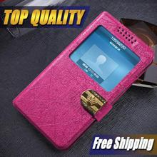 Luxury flip Leather Case for LG L90 D410 Back Stand Mobile Phone Bags Cases with view windows free shipping