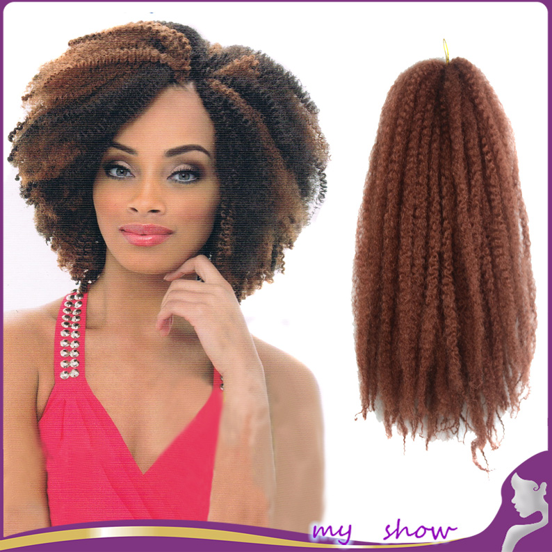 Kinky Curly Marley Kanekalon Braiding Hair Senegalese Twist Crochet ...