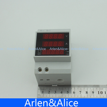 Din rail LED display voltmeter ammeter with active and apparent power and power factor Din rail