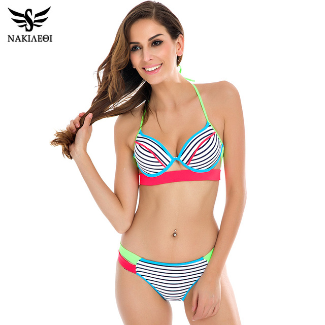 2016 сексуальные бикини росту женщин купальники бразильский ретро горячая бандо неоновая строка купальник купальники Biquini комплект бикини