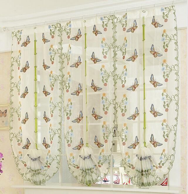 85*175cm Butterfly Balloon Curtain Window Curtain