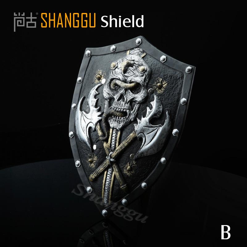 Pirate pattern red cross knights shield Medieval El Cid Shield Knight  child cosplay Warriors Shield