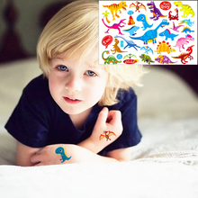 Child Dinosaurs Toy Sticker Temporary Flash Tattoo Body Art 17*10cm Waterproof Henna Tatoo EN71 Quality Product FREE SHIPPING