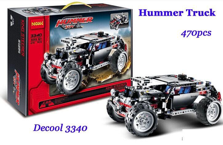 Decool 3340 High Tech Cruiser Transport Hummer SUV Racing Car Model 470pcs/set Building Block kits toys children Christmas - Online Store 131916 store