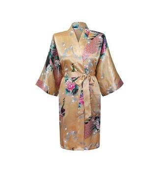 Yeller женщины в павлин кимоно ванна халат ночная рубашка платье юката халат пижама ...