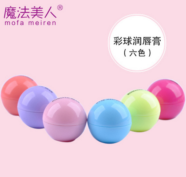6pcs/lot 2015 Brand Magical beauty style maquiagem Fruit globose lip balm makeup eosed lip balm Natural moisturizing(China (Mainland))