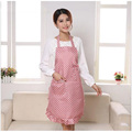 2016 New fabric design new professional home kitchen aprons with lace double waterproof handy home decoration