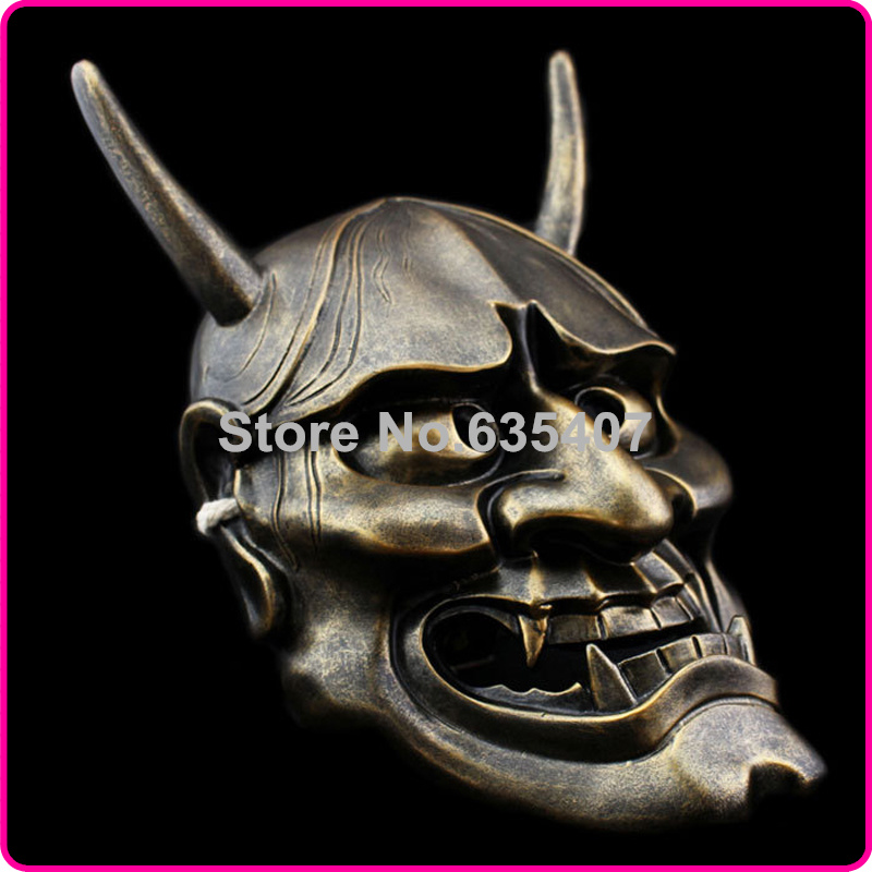 Free Shipping China Manufacturer Japanese Buddhism Prajna Ghost Traditional Hannya Mask Hanya Mask Bronze(China (Mainland))