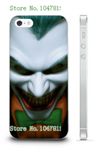 Mobile Phone Cases 2016 jokers Design Plastic White Hard Case For IPHONE 5 5s Free Shipping
